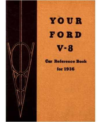 1936 FORD V-8 V8 Owners Manual User Guide