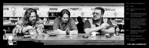 The Big Lebowski - Movie Poster Memorable Quotes & Strip Set