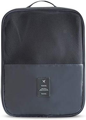 トラベルポーチ 収納バッグ 靴/靴下/服収納 裏側隠しポケット グリッドポケット スーツケースに固定可 ポータブル 無地 可愛い 大容量 防水 出張 旅行 トラベル ナイロン