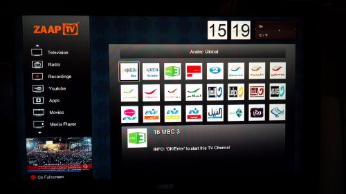 ZaapTV HD409N 1080p IPTV for Arabic, Turkish, Persian, Greek and African Channels & Movies