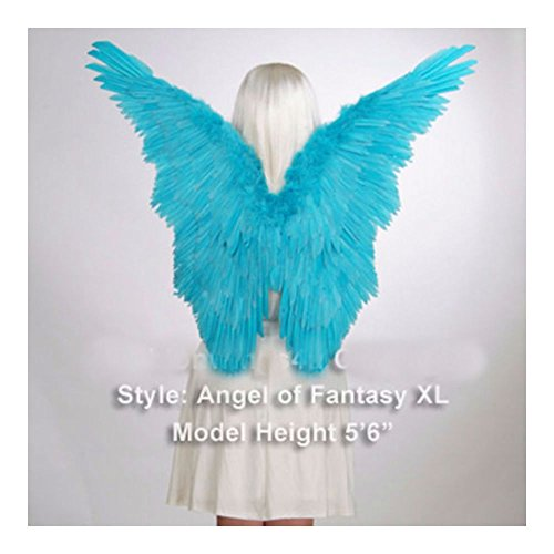 Blue Unisex Butterfly Style Costume Feather Angel Wings Dress Up -