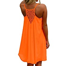 Amstt Women's Summer Sexy Vibrant Color Chiffon Dress Bathing Suit Cover Up