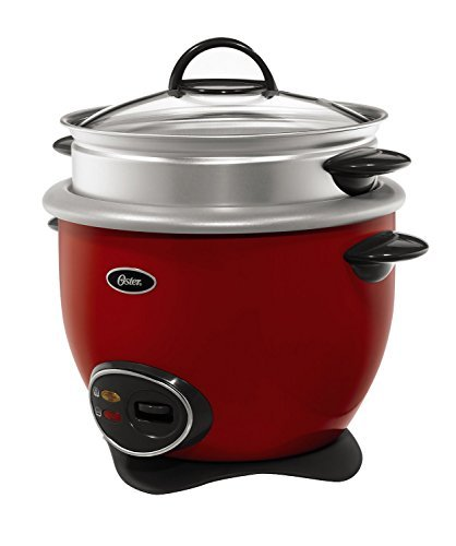 Oster CKSTRCMS14-R 14-Cup (Cooked) Rice Cooker with Steam Tray, Red by Oster