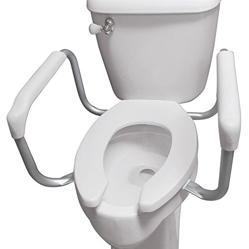 Collections Etc Safety Toilet Rail Support, White, One Size