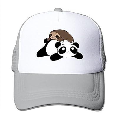 Sloth Panda Adjustable Snapback Baseball Cap Custom Mesh Trucker Hat from Huishe1