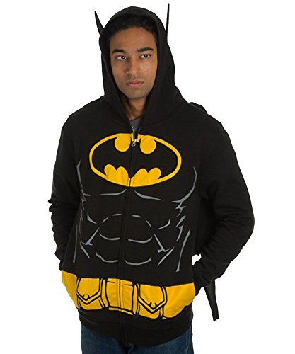 DC Comics Batman Suit Up Hoodie with Cape Mens -