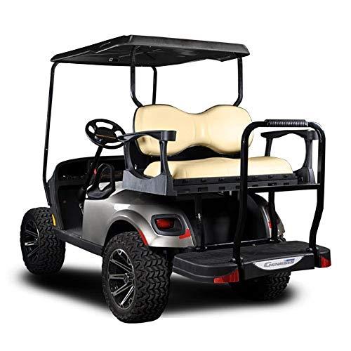 MadJax Genesis 250 Steel Frame Golf Cart Seat Kit w/Deluxe Tan Cushion Set for E-Z-GO TXT