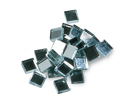 Mosaic Mercantile Mirror Tile, 3/8-Inch, Square, 50 Count
