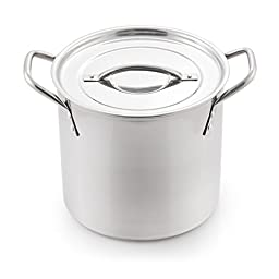 McSunley 606 Medium Stainless Steel Prep N Cook Stockpot, 8 quart, Metallic
