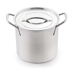 McSunley 606 Medium Stainless Steel Prep N Cook Stockpot, 8 quart, Metallic