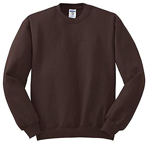 Jerzees Men's NuBlend Crew Neck Sweatshirt, Chocolate, Small ()