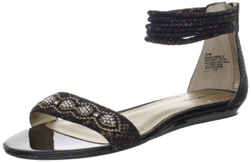 Sandalo A Fasciale Da Donna A Fasciale Nero Sintetico