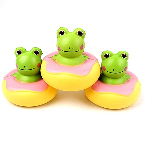 CHoppyWAVE Squeeze Toys Stress Relief, Squishy Slow Rising Soft Donut Frog Stress Reliever Kids Adults Squeeze Toys - Donut Frog