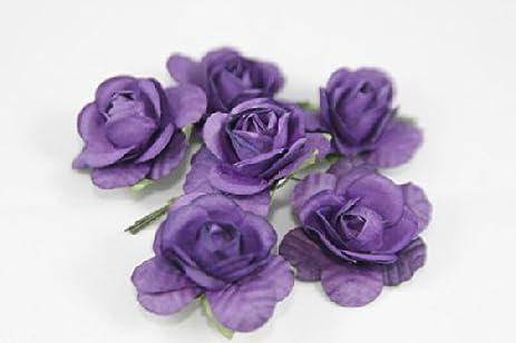 Amazon mini rose bulk paper flowers 05 purple 144 stems mini rose bulk paper flowers 05quot mightylinksfo
