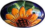 Oval Sunflower Talavera Ceramic Drawer Knob
