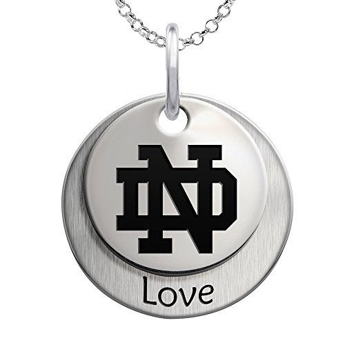 College Jewelry University of Notre Dame Fighting Irish Love Stacked Necklace