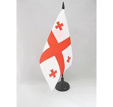 AZ FLAG Bandera de Mesa de Georgia 21x14cm - BANDERINA de DESPACHO Georgiana 14 x 21 cm: Amazon.es: Hogar