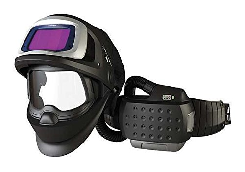 3M 36-3301-30SW Powered Air Purifying Respirator Organic Vapor/Acid Gas and High Efficiency System with 3M Speedglas Welding Helmet 9100 FX-Air, Lithium Ion Battery, Side Windows and Auto-Darkening Filter 9100XX, Shades 5, 8-13