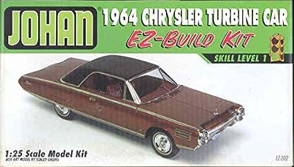 Amazon Com Johan 1964 Chrysler Turbine Car Ez Build 1 25 Model Kit