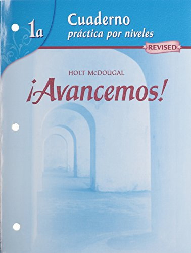 Â¡Avancemos!: Cuaderno: Practica por niveles (Student Workbook) with Review Bookmarks Level 1A (Spanish Edition) [MCDOUGAL LITTEL] (Tapa Blanda)