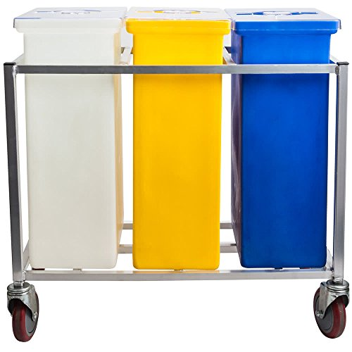 TableTop King 148PIB Triple Ingredient Bin with Aluminum Frame and Casters by TableTop King