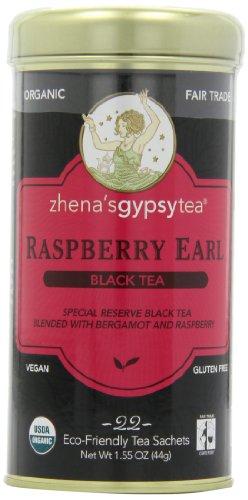 - Zhena's Gypsy Tea, Raspberry Earl, 22-Count Tea Sachets (Pack of 6)