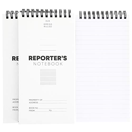 Juvale 12-Pack 8 x 4 Inch Reporters Pocket Spiral Memo Pad Notebook, 70 Sheets/140 Pages Per Book