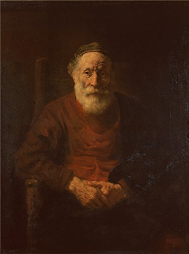 Oil Painting 'Rembrandt Harmensz. Van Rijn_1652-1654_Portrait Of An Old Man In Red', 10 x 13 inch / 25 x 34 cm , on High Definition HD canvas prints, Basement, Bed Room And Living Room Decoration, (Bleu Electric Wall Sconce)