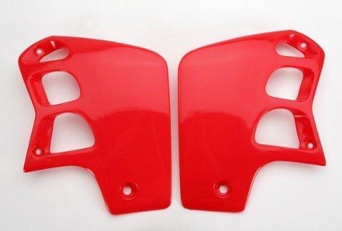 (UFO Plastics Radiator Cover Red for Honda CR 500R 89-01)