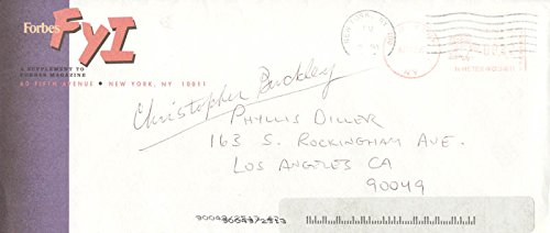 Christopher Buckley Typed Letter Signed 03/13/1997