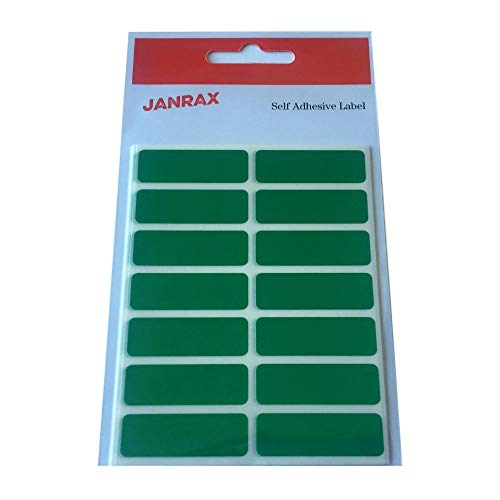 Pack of 98 Green 12x38mm Rectangular Labels - Adhesive Stickers