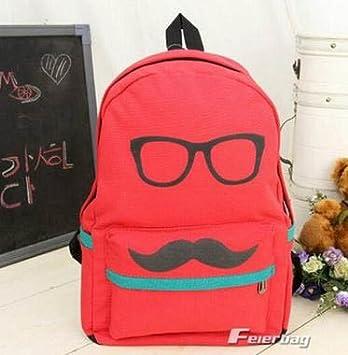 Amazon.com: Rojo lindo hombre de desgaste anteojos impresión ...