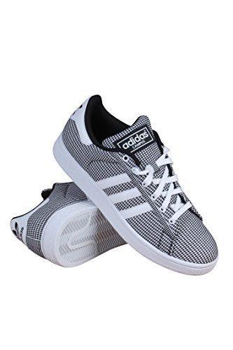 adidas Originals Men's Campus Mesh Fashion Sneaker, White/White/Black, 11.5 M (Campus Sneakers)