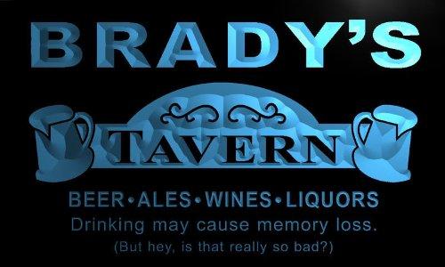 (px1448-b BRADY's Tavern Beer Mug Bar Pub Wine Neon Light Sign)
