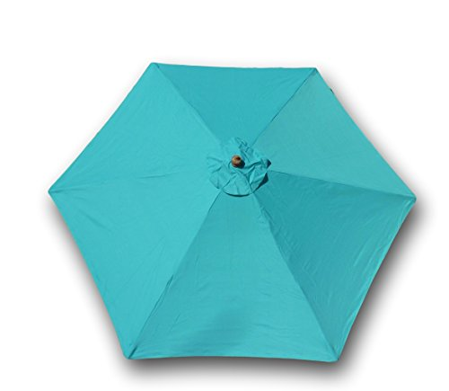 Formosa Covers 9ft Umbrella Replacement Canopy 6 Ribs in Turquoise Olefin (Canopy Only)