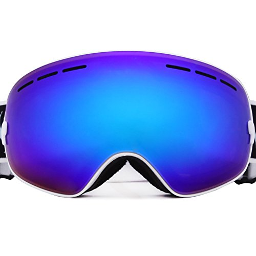 Benice Ski Goggles,Double Lens Snowboard Skiing Glasses Optical Compatible UV400 Protection Anti-Fog Snow Goggles for Adult and Kids