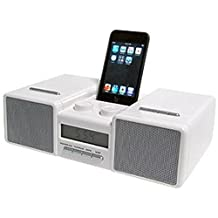 iClock AM/FM Radio Stereo speaker with Alarm Clock and FM Tuner for iPod Shuffle Touch Classic Nano Mini 3rd Gen 4th Gen