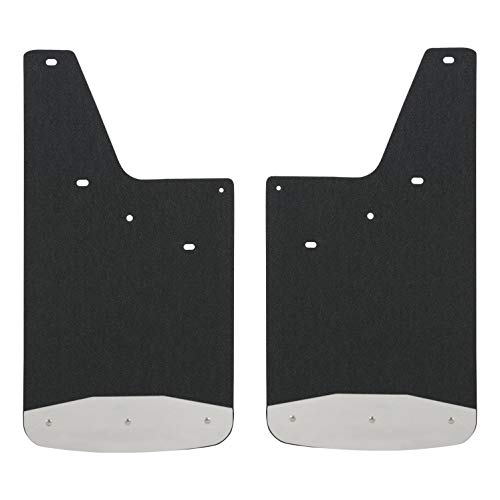 LUVERNE 250743 Front or Rear Textured Rubber Mud Guards Black 12-Inch x 23-Inch Select Chevrolet Silverado, GMC Sierra 1500, 2500, 3500 -