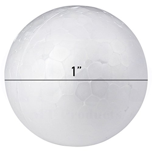 Smooth White Craft Foam Polystyrene Round Balls by MT Products (1 Inch) (100 Pieces)]()