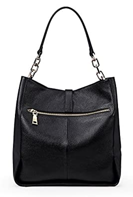 f1dccc3113e9 Amazon.com  Genuine Leather Shoulder Handbags for Women Full-grain  Cowhide Supple Top-handle Bags Soft Hobo Bags Satchels  Shoes