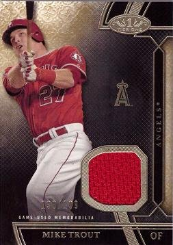newest aa4cc 8dbfc Amazon.com: 2015 Topps Tier One Relics #TSR-MTT Mike Trout ...