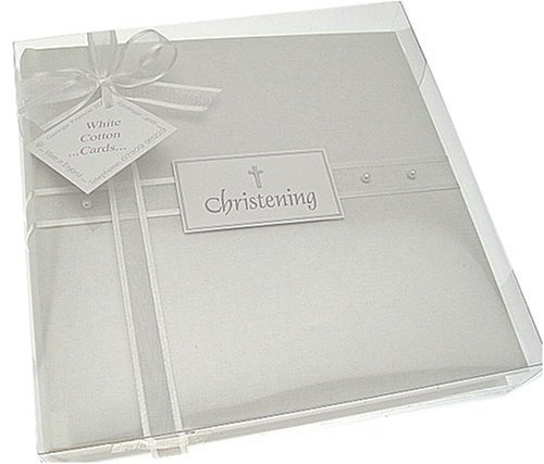 White Cotton Cards Album photo Medium Perle Bapt/ême