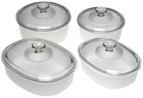 CorningWare French White 8-Piece Casserole Set 6013338 newitem225345216