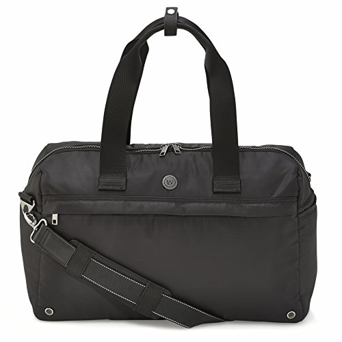 LIVE WELL 360 Core 2.0 Fitness Bag (Onyx Black) - Perfect, Stylish and Premium Bag for Gym, Yoga, Work, Daily Commute, Travel and Weekend Getaway - Bag With Dirty Clothes and Laptop Compartment by Live Well Inc