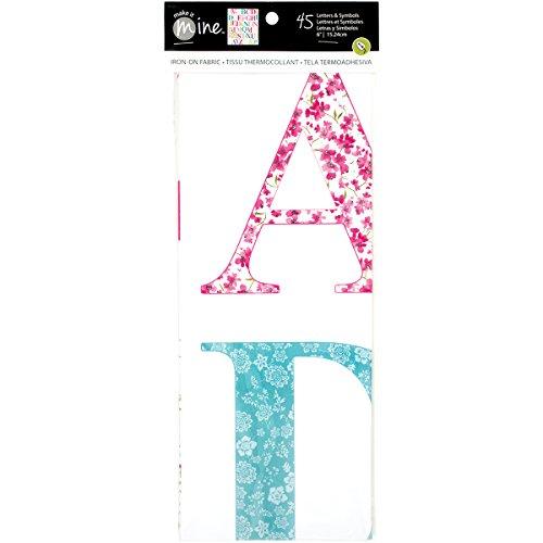 - Alphabet Uppercase Iron-On Fabric Letters & Symbols-Sweet