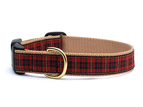 Up Country- NEW Fleet Street Plaid Dog Collar-Medium!!