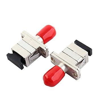 Amazon.com: 2 Pcs ST/SC Brida fibra óptica Hibrida Conector ...