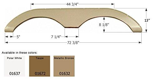 ICON 12303 Tandem Axle Fender Skirt FS2293 for Keystone-Polar White