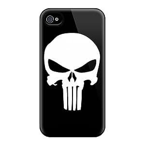 JohnPrimeauMaurice Iphone 4/4s Best Cell-phone Hard Covers Custom Beautiful Punisher Logo Image [qMb11979Uvyb]