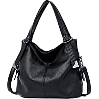Ladies Designer Vegan Leather Hobo Bag - Women Large Top-Handle Shoppers Tote Handbag w/Shoulder Crossbody Strap